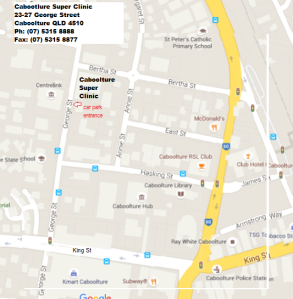 Caboolture Super Clinic - Location Map